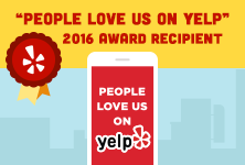 People Love Us on Yelp, 2016 Award Recipient